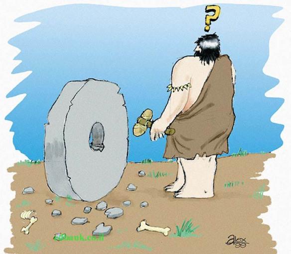 Wheel invention illustration Stock Photo